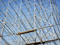 Scaffolding modern at a construction site Royalty Free Stock Image