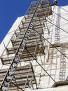 Scaffolding modern at a construction site Royalty Free Stock Photography
