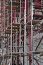 Scaffolding on multi-storey building Royalty Free Stock Photos