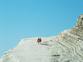 Scala dei turchi la is a cliff overlooking the sea near the porto empedocles in the province of agrigento sicily Stock Photo