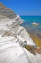 Scala dei turchi, Sicily, Italy Stock Photo