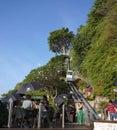 Scala mobile a roccia antivari ayana resort bali Immagine Stock Libera da Diritti