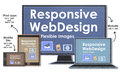 Scalable with responsive web design flexible images Stock Photo