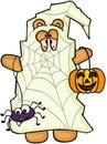 Halloween teddy bear trick or treat Royalty Free Stock Photo