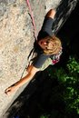 Scalatore di roccia estremo Fotografia Stock Libera da Diritti