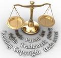 Meradlo práva právne spravodlivosť slová