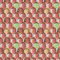 Scale pattern decorative seamless in red colors Stock Image