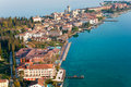Scaliger Castle  in Sirmione by lake Garda, Italy Royalty Free Stock Photo