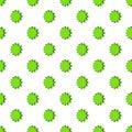 Scalloped star pattern, cartoon style