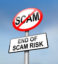 Scam free zone. Royalty Free Stock Photography