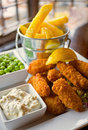 Scampi and Chips meal Royalty Free Stock Image