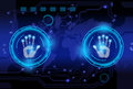 Scan hand print technology . Royalty Free Stock Photo