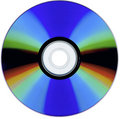 A scan of a isolated cd rom Royalty Free Stock Photo