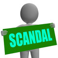 Scandal sign character shows publicized incident showing or uncovered fraud Royalty Free Stock Photos