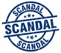 scandal stamp Royalty Free Stock Photo