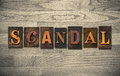 Scandal Wooden Letterpress Theme Royalty Free Stock Photo
