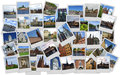 Scandinavia traveling around in collage with several shots Royalty Free Stock Photography