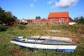 Scandinavian house, Snogebaek, Bornholm, Denmark Royalty Free Stock Photo