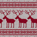Scandinavian knitted seamless pattern with deers Stock Images