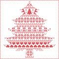 Scandinavian Nordic winter stitching knitting christmas pattern