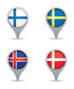 Scandinavian pointers a set of four Royalty Free Stock Image