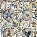 Scandinavian seamless pattern. watercolor christmas illustration.