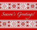 Scandinavian Season's Greetings Royalty Free Stock Photography