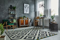 Scandinavian style in apartment Royalty Free Stock Photo