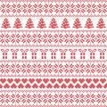 Scandinavian style, Nordic winter sweater stitch, knit pattern