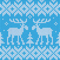 Scandinavian style seamless knitted pattern with deers vector illustration of Royalty Free Stock Image