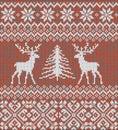 Scandinavian winter ornament. Cristmas seamless knitted pattern.