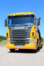 Scania r vehicle carrier truck salo finland june parked in salo finland on june according to press release dated june delivers Royalty Free Stock Photo