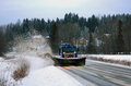 Scania Snowplow Truck Removes Snow From Road Royalty Free Stock Photo