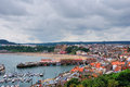 Scarborough Harbour and beach Royalty Free Stock Photo