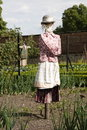 Scarecrow in avegetable garden Stock Photography