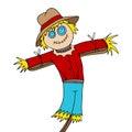 Scarecrow Cartoon Royalty Free Stock Photo