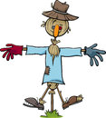 Scarecrow character cartoon Royalty Free Stock Photo