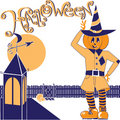 Scarecrow Halloween Royalty Free Stock Images