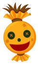 Scarecrow head with happy face Royalty Free Stock Photo