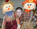 Scarecrow Trio Royalty Free Stock Photo