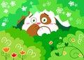 Vector scared bunny