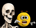 Scared Cartoon With Bones 4 Stock Photo