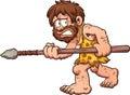 Scared caveman