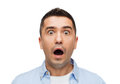 Scared man shouting fear emotions horror and people concept Royalty Free Stock Photography
