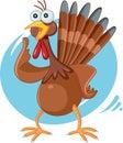 Scared Turkey Funny Vector Cartoon