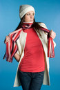 Scarf Woman Royalty Free Stock Images