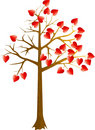 Scarlet hearts tree Royalty Free Stock Photos