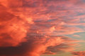 Scarlet sky with sunset in evening Stock Image