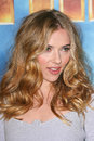 Scarlett johansson at the iron man film photocall four seasons beverly hills ca Royalty Free Stock Images