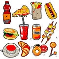 Scarry fast food elements Royalty Free Stock Photo